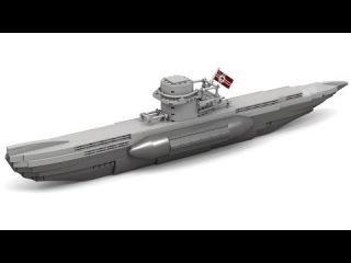 Lego WWII Type VII German U-Boat Instructions