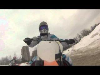 мотокросс зимой