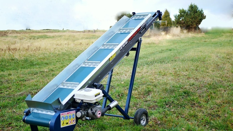 Making mobile Gas-Powered Belt Conveyor