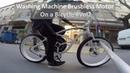 Washing Machine Brushless Motor on a Bicycle 2 (ENG SUBS) neodymioum_magnets halbach_array Vesc