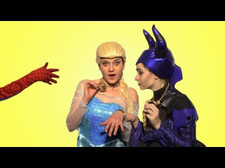 Superheroes in real life! w/ Frozen Elsa & Spiderman & Maleficent. Funny make up. Episode 5