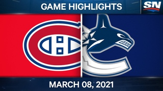 NHL Game Highlights | Canadiens vs. Canucks – Mar. 8, 2021