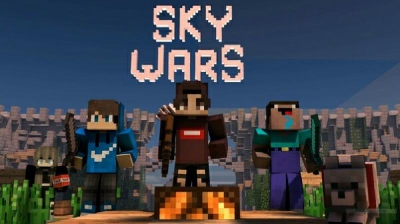 Іграємо в MineCraft в SkyWars під музичку ( длиная битва получилась )