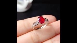 Kjjeaxcmy, изящные ювелирные изделия, имитация серебра, натуральный регулируемый рубин, новинка, женское кольцо, роскошная