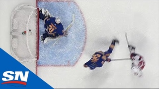 Rasmus Dahlin Frustrated After Redirecting Alex Ovechkin's Shot Into Own Goal