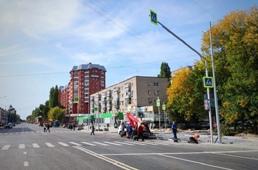 Проспект Победы в Липецке покрыли асфальтом