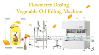 Flowmeter Dosing Vegetable Oil Filling Machine with Snap Lid Capping Machine Production Line