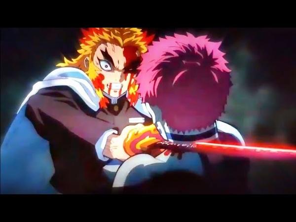 Demon Slayer Full Movie Mugen Train「AMV」 Rengoku Vs Upper Moon Akaza FULL FIGHT