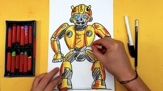Как нарисовать Трансформера Бамблби / How to draw Transformers Bumblebee