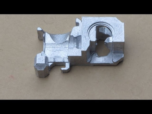 Metal Casting at Home Part 77 Lost PLA Greensand Casting for the Myfordboy 3D Printer