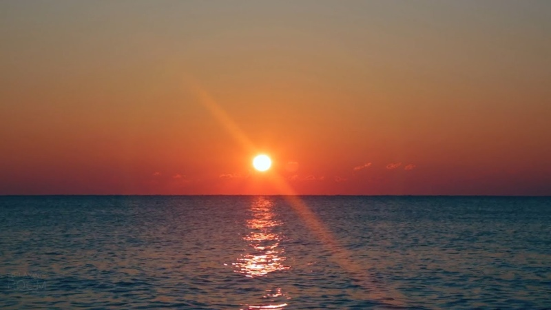 ЗОЛОТОЙ РАССВЕТ Восходящее Солнце Шум Моря для Релаксации Отдыха Сна