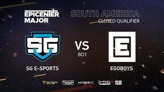 EgoBoys vs SG e-sports, EPICENTER Major 2019 SA Closed Quals , bo1 [DotaBurger]
