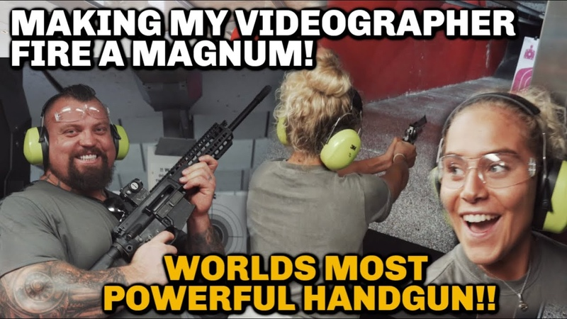 48Kg Girl fires magnum | Nearly loses teeth