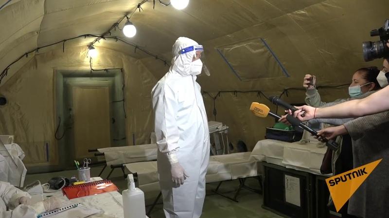 Российский военный госпиталь в Сухуми принял пациентов