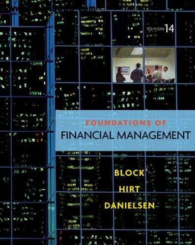 Foundations of Financial Management- 14th Edition
