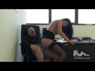 Хардкор, Жесткий секс в офисе. (Итальянская порно звезда Sofia
