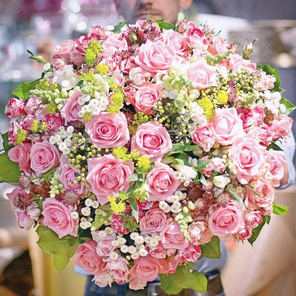 фото день рождения цветы букет красивый