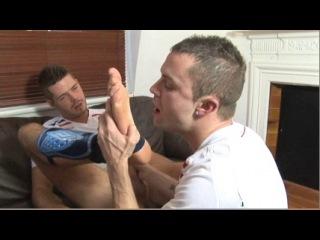 Football socks feet worship