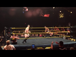 Double Hesitation Dropkick - Finn Balor (Prince Devitt) and  Hideo Itami (KENTA)