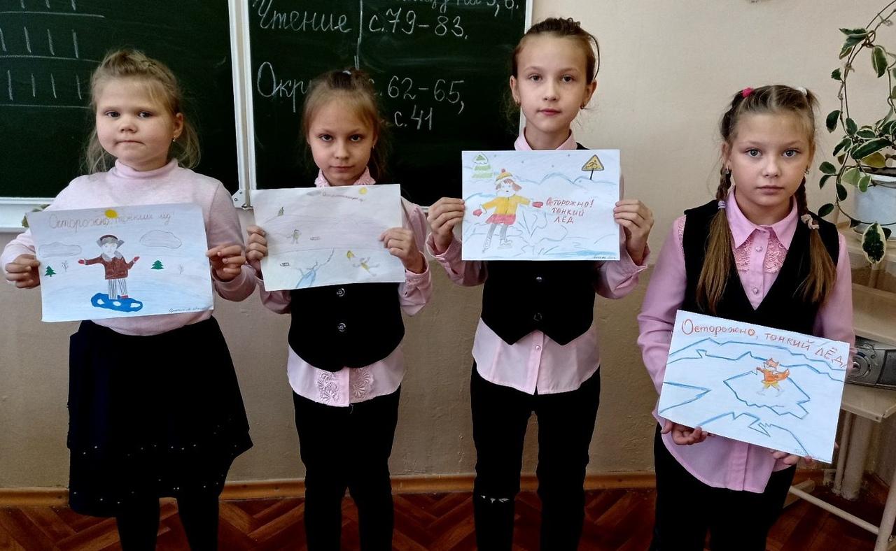 Школьникам и студентам Петровского района напомнили об опасности выхода на лёд