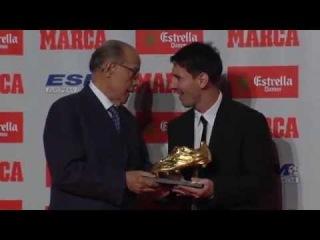 FC Barcelona - Messi recull la seva segona Bota d'Or