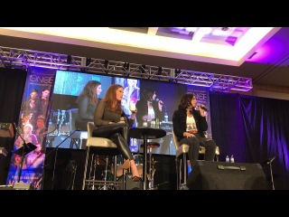 Lana Parrilla and Rebecca Mader OUAT Vancouver 2018 Gold Panel Part 1