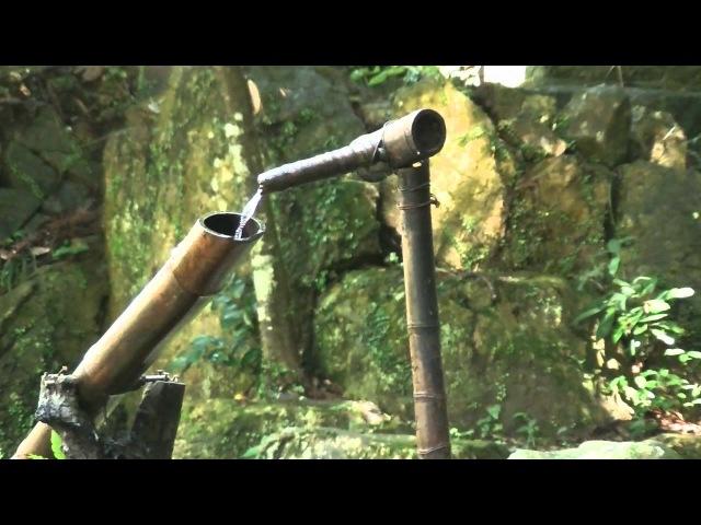 癒し系 自然音 ししおどし Bamboo Fountain