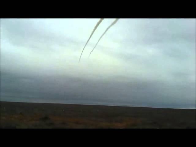 Массовый пуск ракет С-300 на полигоне Ашулук.