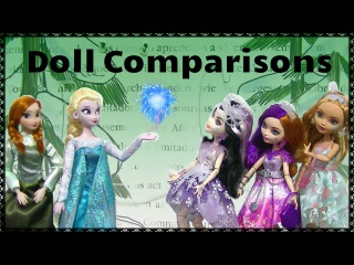 Ice Skating Doll Comparisons - EAH Fairest on Ice vs. Frozen Elsa & Anna Disney Store 2 pack