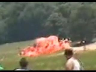 F-22 Raptor Crash - Ball of Fire - RC Jet Turbine Power