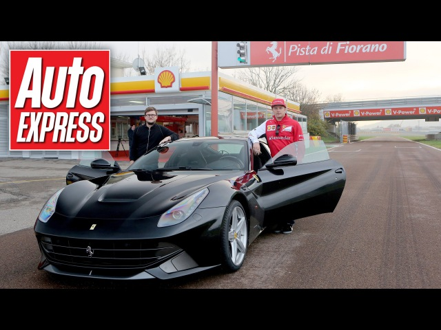 What's a hot lap with Kimi Raikkonen in a Ferrari F12 really like