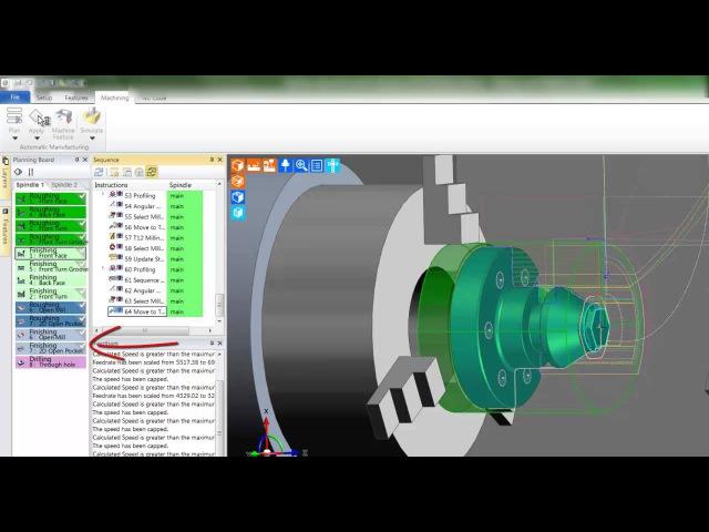 5a Edgecam TestDrive tutorial Machining in workflow turning