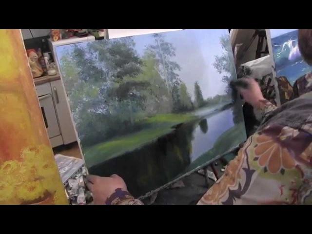 Летний лес научиться рисовать пейзаж Сахаров