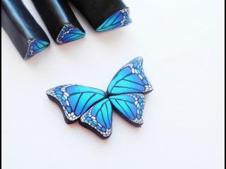 Мастер-класс: кейн крыло бабочки из полимерной глины FIMO/polymer clay tutorial