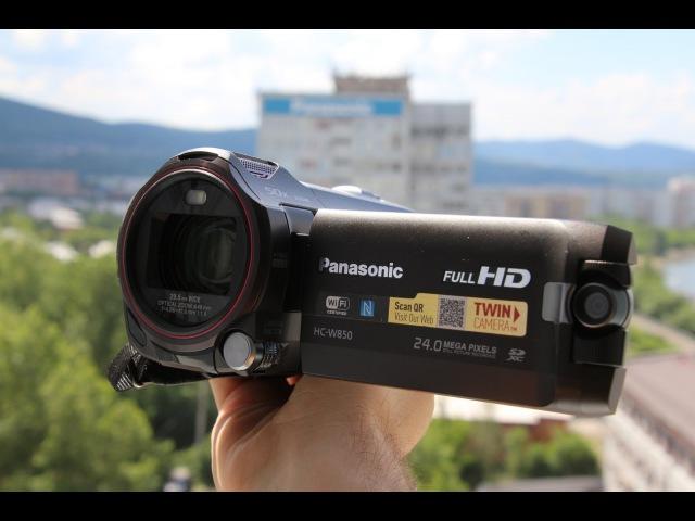 Обзор видеокамеры Panasonic HC W850 Тест удалённого видео