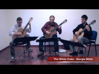 """David Bowie tribute - Trio Rhapsody practicing in studio Giorgio Mirto's """"The White Duke"""""""