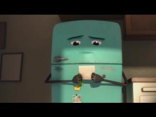Трогательный мультик про подростка и его холодильник - Русская озвучка