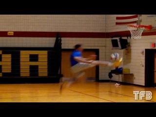 Tyler Inman MID-AIR BALL KICK DUNK! INSANE! #SCTop10
