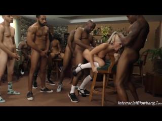 Официантку Alena Croft рвёт топла негров [sex, Porn, interracial, deep throat, gang bang] [720p]