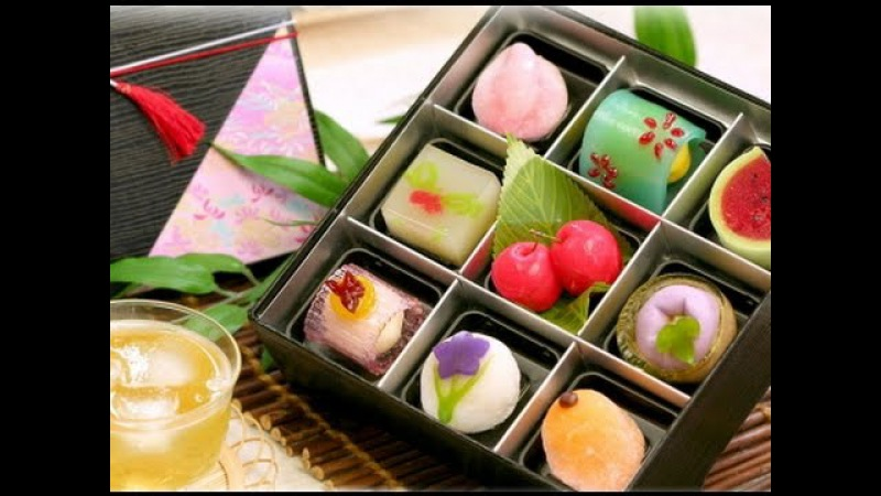 How its made Wagashi traditional japanese sweets كيفية صنع الحلوى اليابانية الفاخ