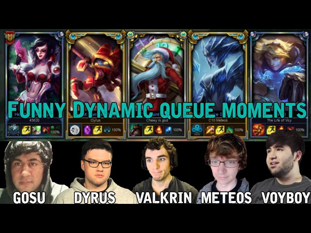 Meteos, Dyrus, Voyboy, Valkrin, Gosu funny Dynamic Queue moments
