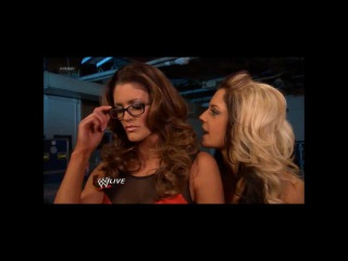 WWE RAW 10/22: Kaitlyn, Eve Torres, and Layla Backstage Segment Diva Catfight!