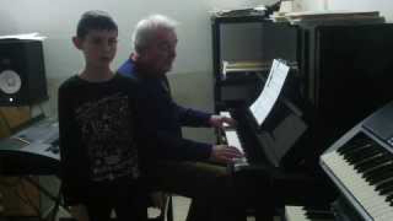 Steve Rabaev playing piano a good day for us Purim