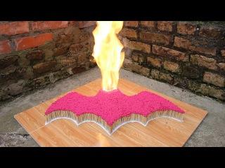 7000 спичек цепная реакция ● денщик ● огонь Domino
