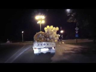 Как перевезти воздушные шарики How to transport the balloons.