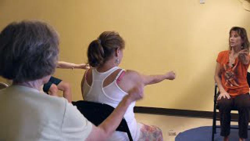 (1 Hr) Chair Yoga Class Banishing Back Pain Naturally with Sherry Zak Morris, E-RYT