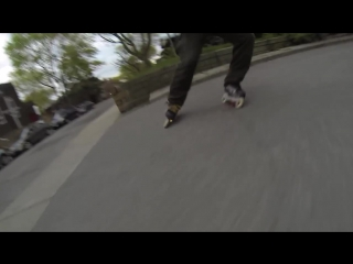 Inline Skater Sparks It Up On The Streets