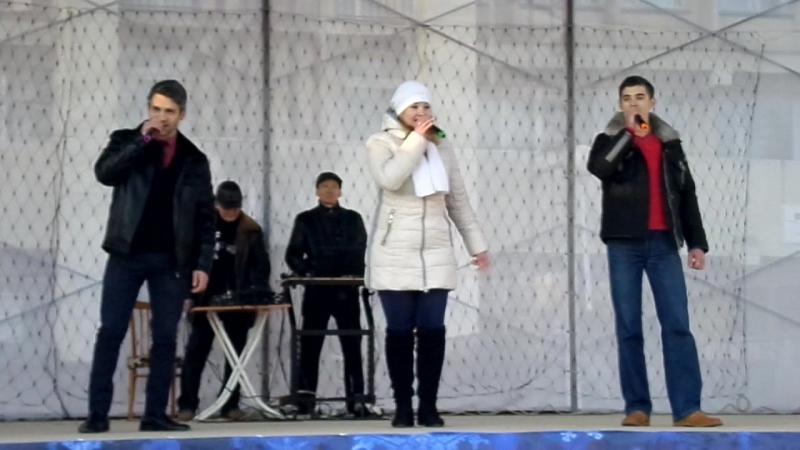 Выступление Ксении Корягиной Марлена Белялова и Виктора Феклушина 1 января 2017 г