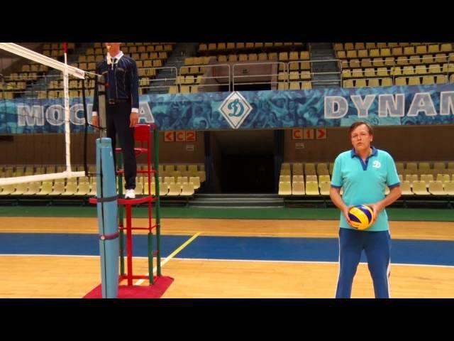 Жесты и символы спортивных арбитров Волейбол