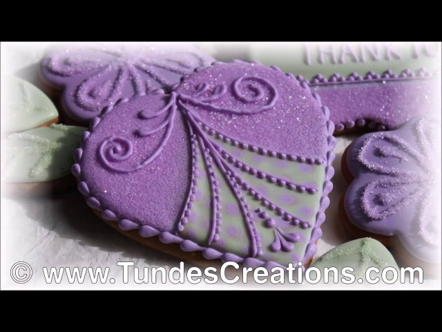 Purple heart cookie with TruColor natural food coloring
